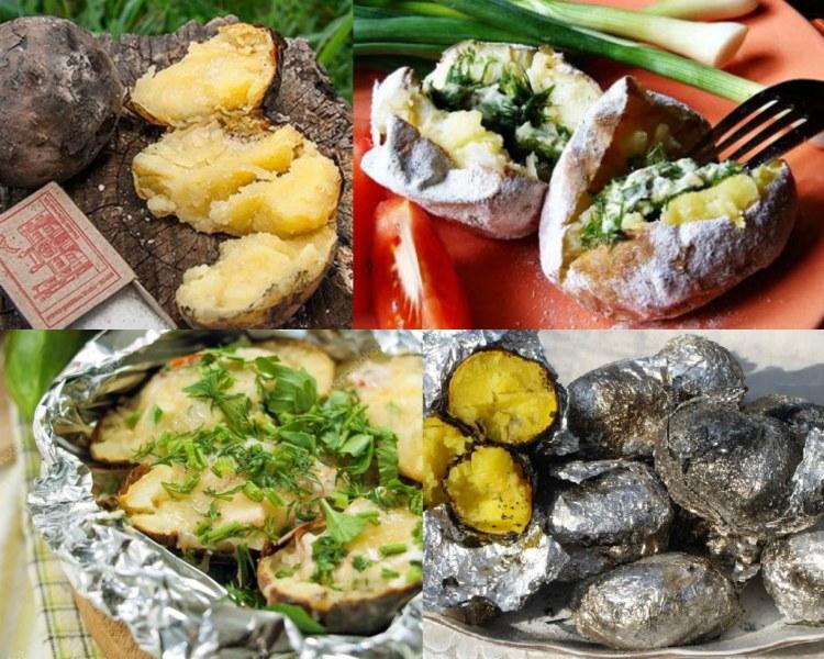 Как запекать картошку в углях — в фольге, без фольги и на мангале