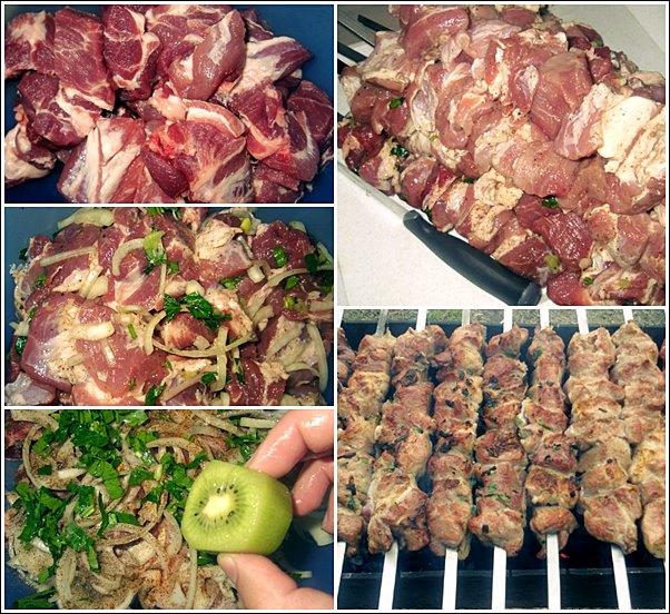 Шашлык из свинины рецепт с киви с фото пошагово