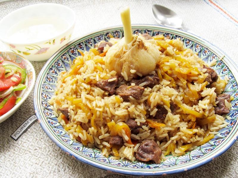 Плов из говядины пошаговый рецепт с фото узбекский в казане