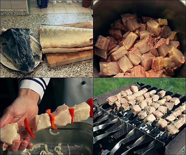 Шашлык из осетра на гриле, мангале или решетке, рецепты приготовления целиком: рассматриваем по порядку