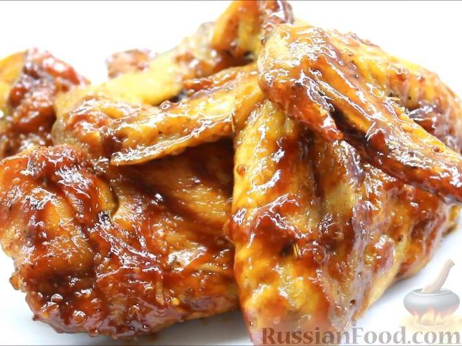 Крылья барбекю в духовке
