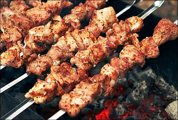 Шашлык на минеральной воде - рецепт из свинины и говядины