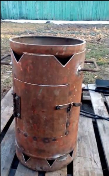 Как сделать печь для казана из газового баллона своими руками