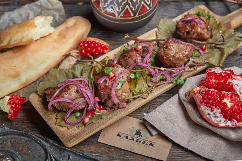 Шашлык каспийский из осетрины | кавказская кухня