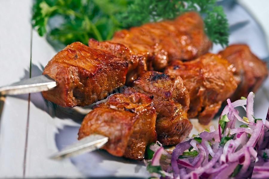 Шашлык из свинины с горчицей