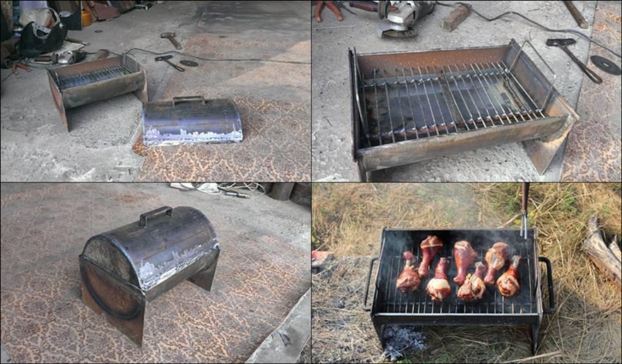Как своими руками сделать барбекюшницу?