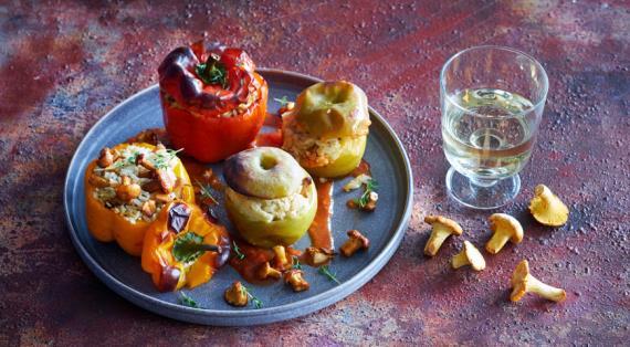 Шашлык с болгарским перцем и помидорами