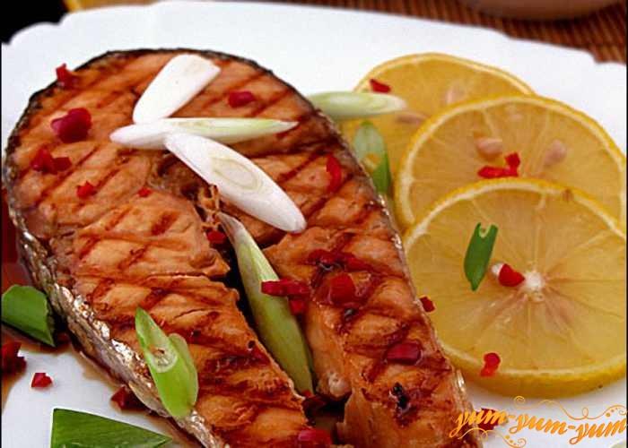 Рецепт приготовления стейка из лосося с фото