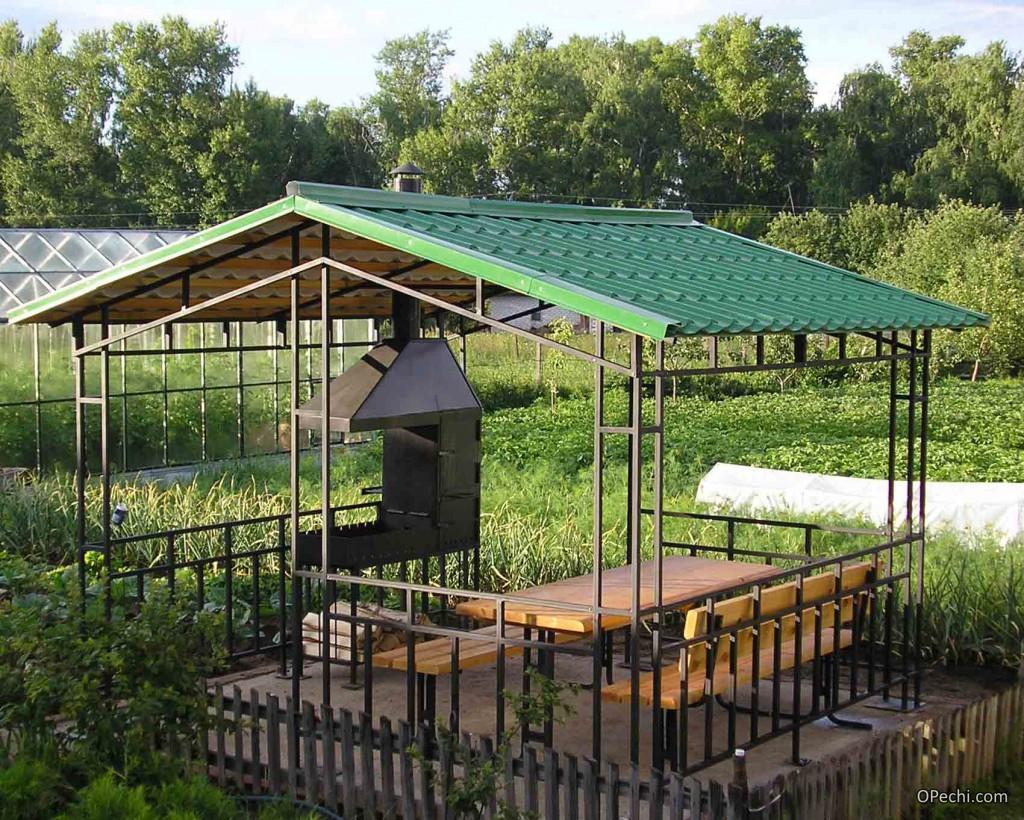 Уютная беседка с мангалом - 125 фото проектов, основные принципы постройки и варианты размещения на участке