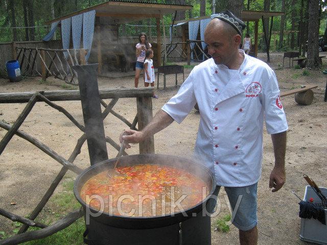 Рецепт шурпы из баранины на костре