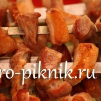 Рецепт шашлычки из ананаса