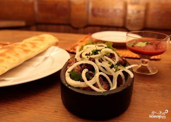 Грузинский шашлык из свинины - мцвади